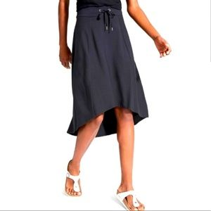 Athleta High Low Pull On Drawstring Midi Skirt